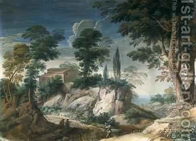 Landscape with Cypresses by Crescenzio Onofri - Reproduction Oil Painting