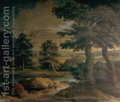 Landscape with River by Crescenzio Onofri - Reproduction Oil Painting