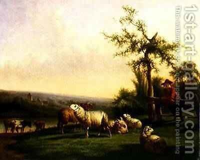 Pastoral Landscape with a Herd by Balthasar Paul Ommeganck - Reproduction Oil Painting