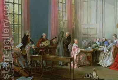 The Young Mozart at the clavichord by Michel-Barthelemy Ollivier - Reproduction Oil Painting