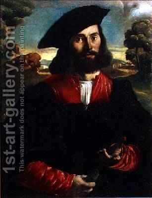Portrait of a Man by Alessandro Oliverio - Reproduction Oil Painting