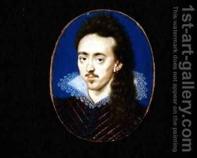 Dudley 3rd Lord North 1581-1666 by Isaac Oliver - Reproduction Oil Painting