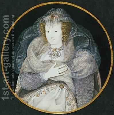 Portrait of Frances Countess Howard by Isaac Oliver - Reproduction Oil Painting