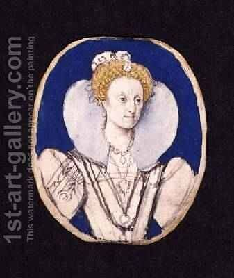 Elizabeth I miniature portrait by Isaac Oliver - Reproduction Oil Painting