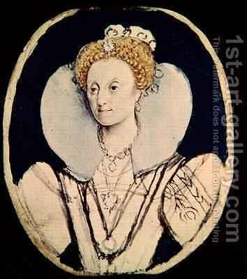 Portrait of Elizabeth I by Isaac Oliver - Reproduction Oil Painting