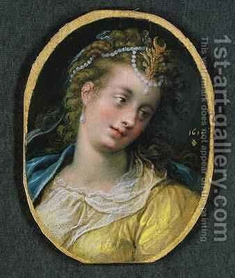 Diana 1615 by Isaac Oliver - Reproduction Oil Painting