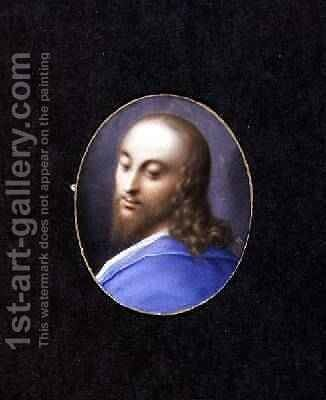 Head of Christ miniature by Isaac Oliver - Reproduction Oil Painting