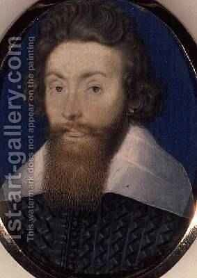 Sir Richard Leveson 1595-1600 by Isaac Oliver - Reproduction Oil Painting