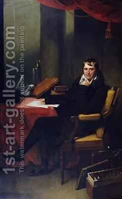 Portrait of Humphry Davy 1778-1829 by (attr. to) Oliver, Archer James - Reproduction Oil Painting