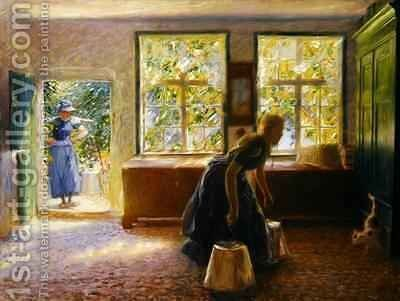 A Hall in Borgfeld by Hans Olde - Reproduction Oil Painting