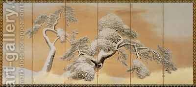 The Pines under Snow by Maruyama Okyo - Reproduction Oil Painting