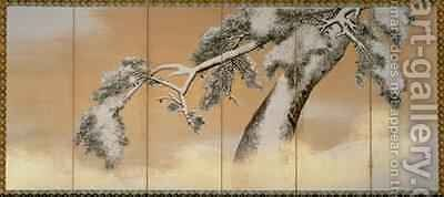 The Pines under Snow 2 by Maruyama Okyo - Reproduction Oil Painting