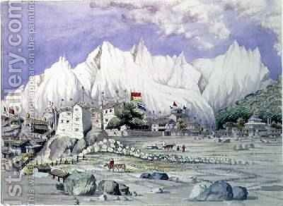 The Town of Keerung May 1855 by Dr. H.A. Oldfield - Reproduction Oil Painting