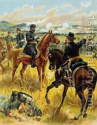 Major General George Meade at the battle of Gettysburg on July 2nd 1863 1900 by Henry Alexander Ogden - Reproduction Oil Painting