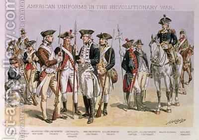 American Uniforms in the Revolutionary Wars 1775-83 by Henry Alexander Ogden - Reproduction Oil Painting