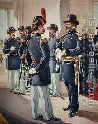 MajorGeneral Grant with Staff and Line Officers by Henry Alexander Ogden - Reproduction Oil Painting
