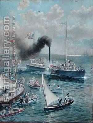 The Clermont 1909 by Henry Alexander Ogden - Reproduction Oil Painting