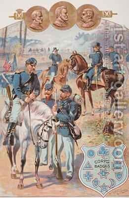 Federal Uniforms during the American Civil War 1861-65 by Henry Alexander Ogden - Reproduction Oil Painting