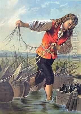 Illustration from Gullivers Travels by Jonathan Swift 1667-1745 2 by Carl Offterdinger - Reproduction Oil Painting