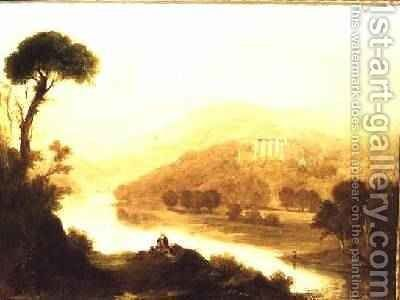 Abbotsford the Home of Sir Walter Scott 1828 by (after) Thomson, Rev. John of Duddingston - Reproduction Oil Painting