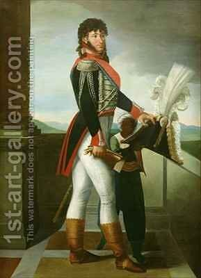 Joachim Murat 1767-1815 wearing the uniform of a Colonel of the Guard 1813 by (attr. to) Odevaere, Joseph Dionysius - Reproduction Oil Painting