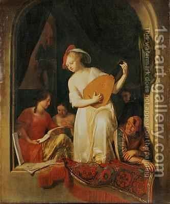 A Musical Party 1681 by Jacob Ochtervelt - Reproduction Oil Painting
