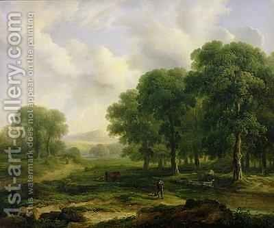 The Trout Stream 1828 by James Arthur O'Connor - Reproduction Oil Painting