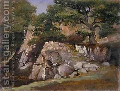 A View of the Valley of Rocks near Mittlach by James Arthur O'Connor - Reproduction Oil Painting