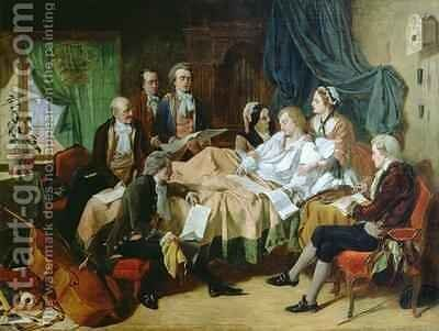 The Last Hours of Mozart 1756-91 by Henry Nelson O'Neil - Reproduction Oil Painting