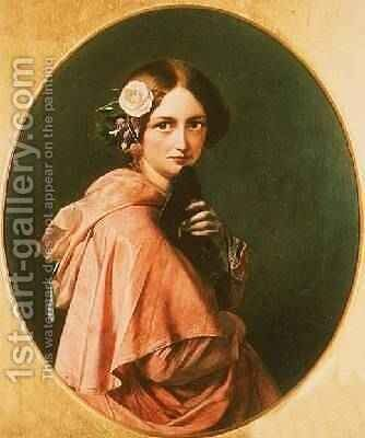Portrait of a Lady by Henry Nelson O'Neil - Reproduction Oil Painting