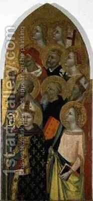 Saints and Angels 1360-70 by Allegretto Nuzi - Reproduction Oil Painting
