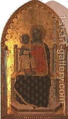 Madonna and Child Enthroned 1372 by Allegretto Nuzi - Reproduction Oil Painting