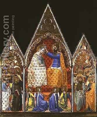 Coronation of the Virgin by Allegretto Nuzi - Reproduction Oil Painting