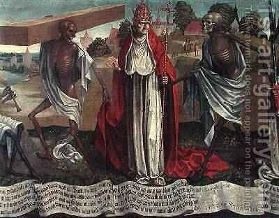 Danse Macabre Pope by Bernt Notke - Reproduction Oil Painting