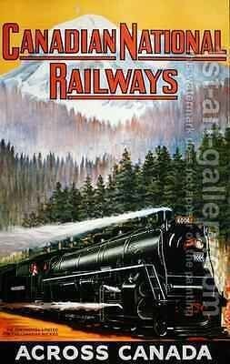 Canadian National Railways Poster 1924 by C. Norwich - Reproduction Oil Painting