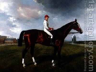 St Gatien with Charles Wood Up at Newmarket 1885 by Benjamin Cam Norton - Reproduction Oil Painting