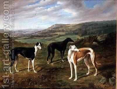 Greyhounds by Benjamin Cam Norton - Reproduction Oil Painting