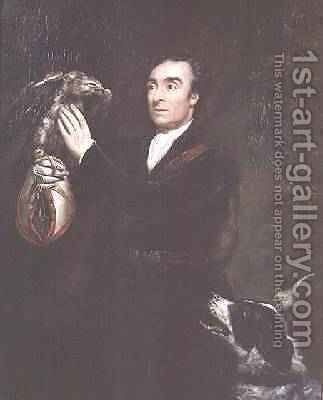 The Falconer a portrait of the artists brother Samuel Northcote 1809 by James Northcote, R.A. - Reproduction Oil Painting
