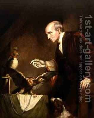 Self Portrait as a Falconer 1823 by James Northcote, R.A. - Reproduction Oil Painting
