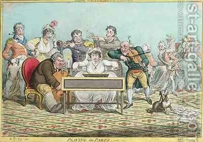 Playing in Parts etched by James Gillray 1757-1815 by (after) North, Brownlow - Reproduction Oil Painting