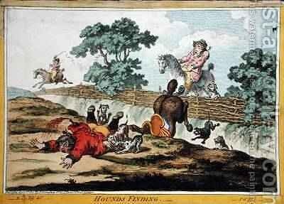 Hounds Finding etched by James Gillray 1756-1815 by (after) North, Brownlow - Reproduction Oil Painting