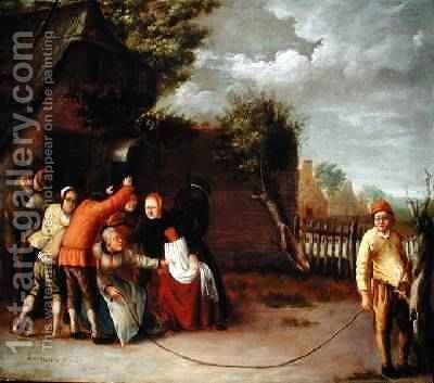 A Game of Folly 1655 by Jan Noortig - Reproduction Oil Painting