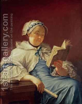 The artists wife 1758 by (attr. to) Nonotte, Donat - Reproduction Oil Painting