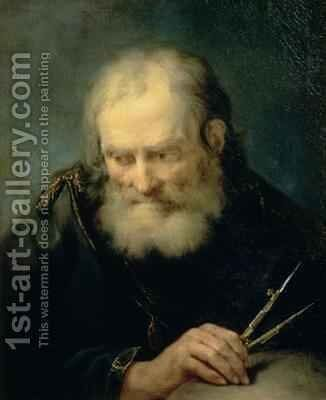 Archimedes by Giuseppe Nogari - Reproduction Oil Painting