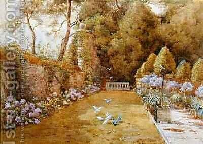The Court Garden Hinton by T. Noelsmith - Reproduction Oil Painting