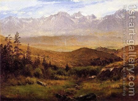 In the Foothills of the Mountains by Albert Bierstadt - Reproduction Oil Painting