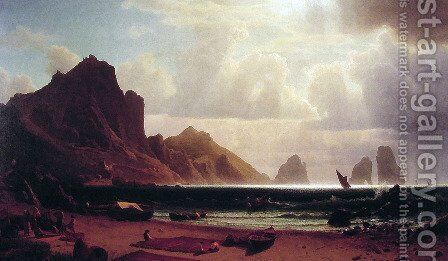 The Marina Piccola, Capri by Albert Bierstadt - Reproduction Oil Painting