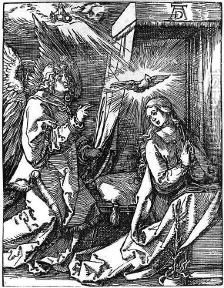 Annunciation 2 by Albrecht Durer - Reproduction Oil Painting