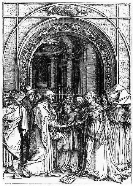 Betrothal of the Virgin by Albrecht Durer - Reproduction Oil Painting