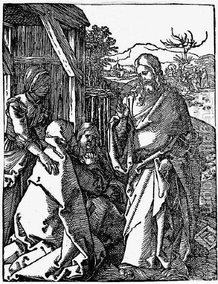 Christ Taking Leave of his Mother by Albrecht Durer - Reproduction Oil Painting